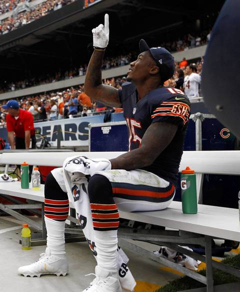 Brandon Marshall celebrates his fourth quarter touchdown.