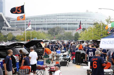 Fans tailgate before the Chicago Bears season opener at Soldier Field on Sept. 8.