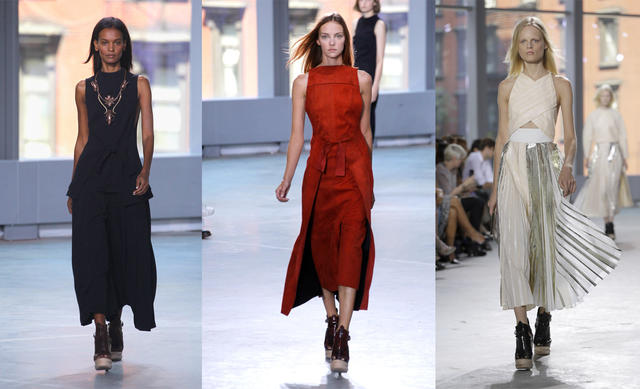 Proenza Schouler showed a sophisticated bohemian look during the New York Fashion Show spring 2014.