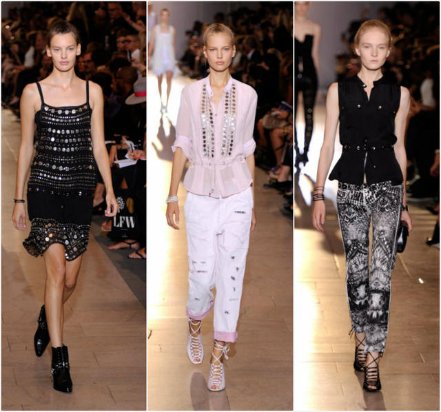 Looks from the Diesel Black Gold spring and summer 2014 women's runway collection shown during New York Fashion Week.