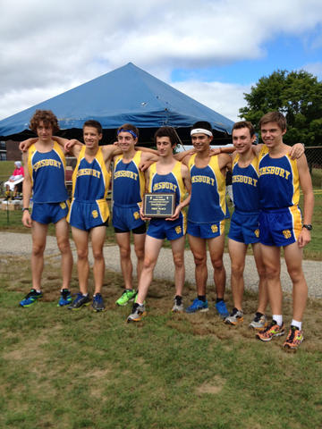 The Simsbury boys won the Varsity 1 team title at the Haddad Windham Invitational cross country meet.