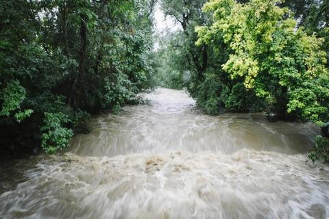 Flash flood sirens warned people to stay away from Boulder Creek and seek higher ground.