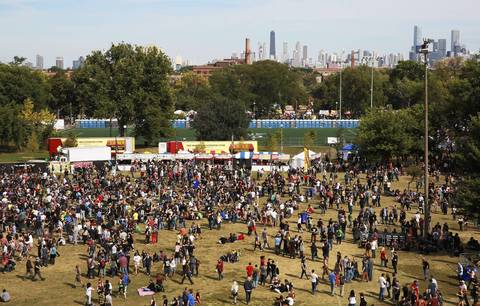 Concert-goers at Riot Fest.