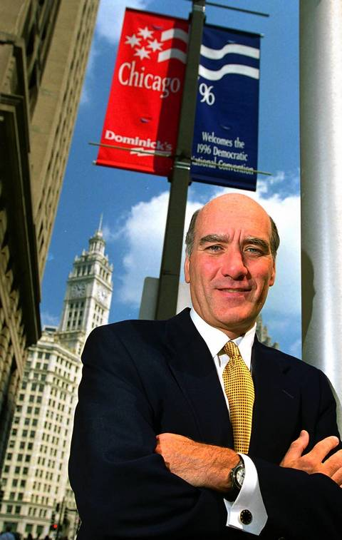 Bill Daley, head of the DNC, poses for a photo on Michigan Avenue in Chicago in 1996.