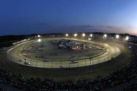 ROSSBURG, OH - JUNE 06: A general view of race action during a heat race for the Feed the Children Prelude to the Dream at Eldora Speedway on June 6, 2012 in Rossburg, Ohio.