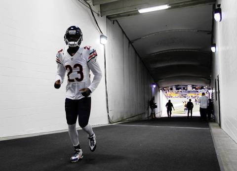 Chicago Bears wide receiver Devin Hester (23) walks in the tunnel before the game at Heinz Field.