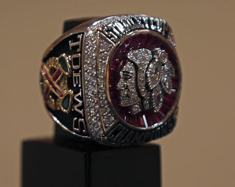 Jonathan Toews' 2013 Stanley Cup championship ring.