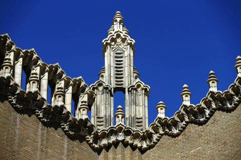 A look at the terra cotta detail on the church's exterior.