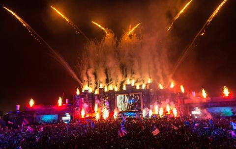 A General view of TomorrowWorld Electronic Music Festival on September 29, 2013 in Chattahoochee Hills, Georgia.