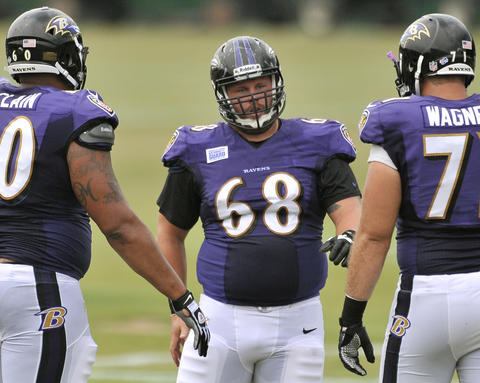 The Ravens received center A.Q. Shipley from Indianapolis for a 2014 conditional draft pick.