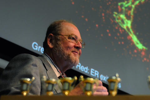 Rothman received a standing ovation from his graduate course, Cell Biology, which he taught after the press conference announcing his award. The students were all wearing toy medals around their necks, and left one for him to put on before his lecture. His lectern was also lined with trophies.
