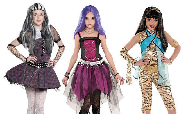 From left: Frankie Stein, Spectra Vondergeist and Cleo De Nile of Monster High Deluxe set. The fierce fashionistas are a wide range of popular choices for tweens.