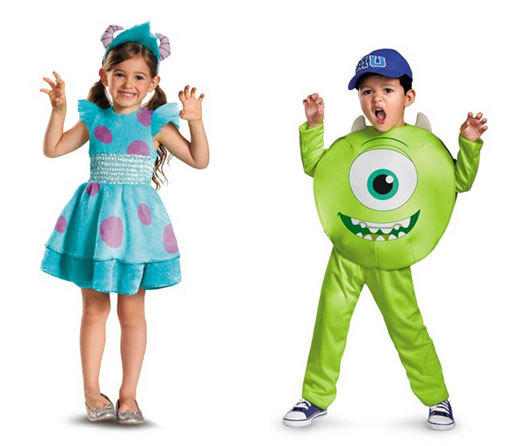 Sulley, left, and Mike of Disney's Monsters University are topping the costume charts for both boys and girls.
