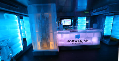 The Ice Bar on the new Norwegian Cruise Lines ship Breakaway, making its first docking at Port Canaveral, Tuesday, October 15, 2013. (Joe Burbank/Orlando Sentinel) B583258058Z.1