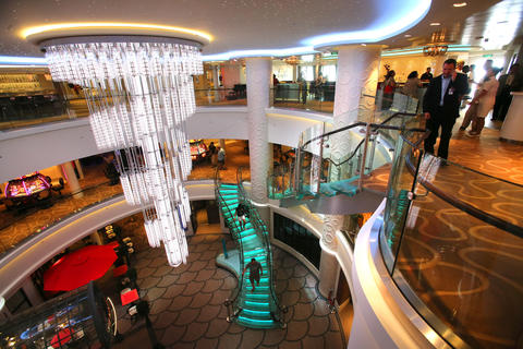 The main atrium on the new Norwegian Cruise Lines ship Breakaway, making its first docking at Port Canaveral, Tuesday, October 15, 2013. (Joe Burbank/Orlando Sentinel) B583258058Z.1