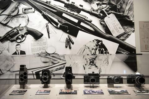 Cameras used to record the assassination of John F. Kennedy are seen in the Sixth Floor Museum formally the site of the Texas School Book Depository October 8, 2013 in Dallas, Texas. The sixth floor of the Dallas County Administration Building now houses the Sixth Floor Museum which is dedicated to the history behind the assassination of US President John F. Kennedy. November 22 will mark the 50th anniversary of the assassination of JFK in Dallas's Dealey Plaza.