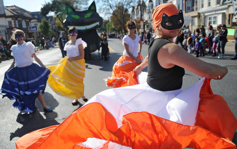 Flor Belez, dances in the parade with Puerto Rican Culture Preservation Inc. The Allentown Halloween Parade took place Sunday afternoon. Thousands lined the parade route which started at the Allentown Fairgrounds and ended at 10th and Hamilton Streets.