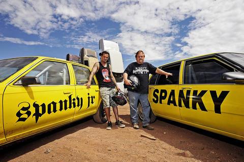 "Bryan ""Spanky Jr."" Spangler and his father, Spanky Spangler."