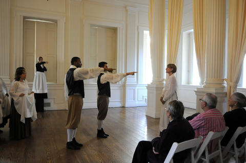 "The Judy Dworin Performance Project performs a preview of ""The Witching Hour"" at the Old State House Tuesday."