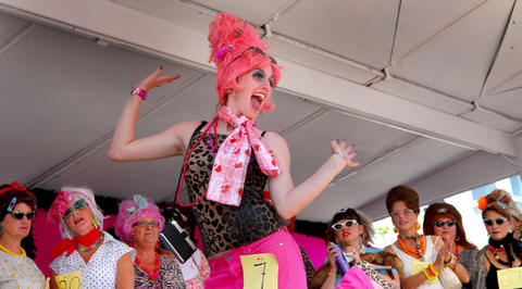 Oh, Bawlmer, however did this fashion faux pas come to be your defining look? Embrace the hon image with gaudy high heels, leopard-print Spandex pants, a too-tight sequined top, cat's-eye glasses, and, of course, a towering beehive of unnaturally colored hair. A bright pink or a shimmering blue should work nicely.