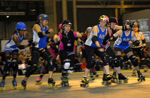 The Charm City Roller Girls are known for their fierce attitude and tough skin. To get this look, you'll need a helmet, elbow/knee-pads and if you're feeling really brave, the skates. Give yourself a fun roller-girl name, too. Warning: Drinking and skating is not recommended.