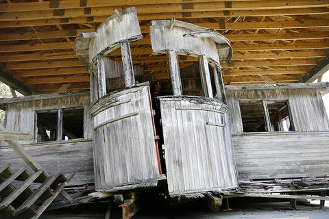 On the grounds of the Surry County Historical Society and Museum, a group is working to restore the pilot house of Captain John Smith, the original ferry from Jamestown to Surry.
