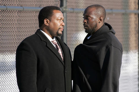 "Michael K. Williams' portrayal of Omar Little (right) in ""The Wire"" actually had viewers rooting for the murderous stick-up artist. Williams' real-life facial scar might be the most important aspect of Omar's look, but a dark duster and a bulletproof vest are important pieces, too. Consider a limp, if you're going for that Season 5 look."