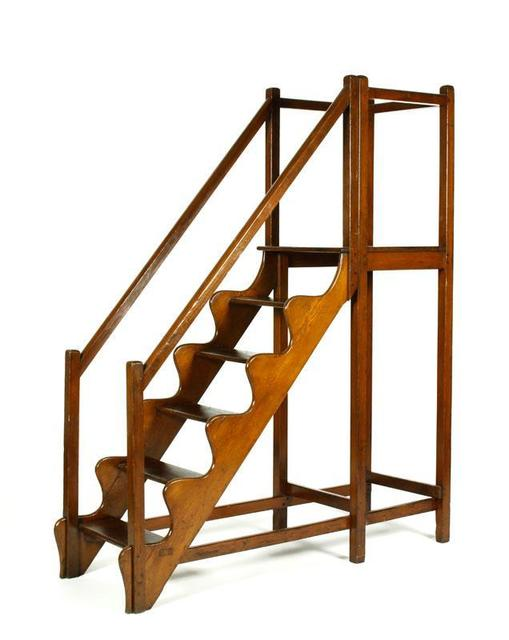 In the digital age, a homey link to the past: antique pine library steps. (Use them for a loft?) Estimate: $1,000 to $2,000 Starting Bid: $500