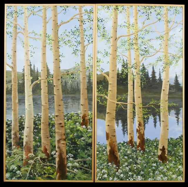 For a less expensive piece of Oprah, this pair of Aspen landscapes might be the thing: Each canvas is 4 feet tall. Estimate for the pair: $400 to $600 Current high bid: $550