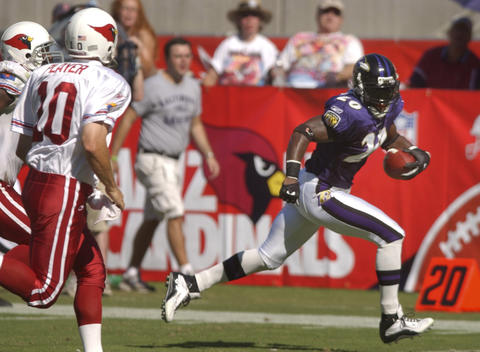The Ravens won on the strength of an 83-yard interception return TD by cornerback Chris McAlister, a 22-yard runback of a blocked punt by safety Ed Reed and four field goals by Matt Stover.