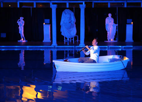 """Todd Palmer performs during a dress rehearsal of Chicago Opera Theater's """"Orpheus and Euridice."""""""