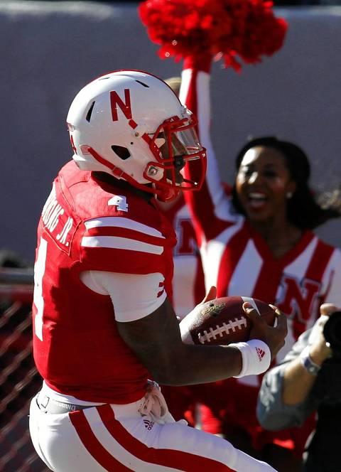 Nebraska quarterback Tommy Armstrong Jr. scores a touchdown.