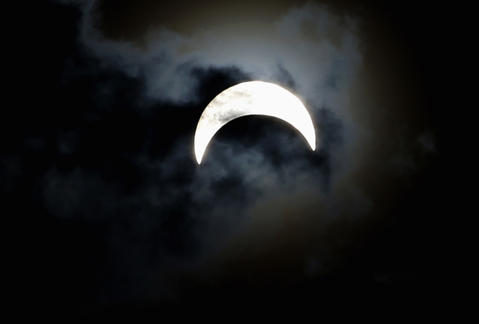 A partially eclipsed sun is seen from Juba November 3, 2013. Skywatchers across the world are in for a treat Sunday as the final solar eclipse of 2013 takes on a rare hybrid form.