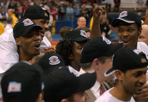 The Terps celebrate their NCAA regional title.