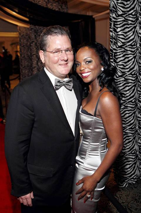 Charlie Trotter and his wife, Rochelle Smith, at the Service Club of Chicago Gala in 2011.