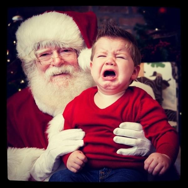 A happy visit to see Santa at Little Beans Cafe took a turn for the worst for my son. (Jackie Earley 12/14/2012)