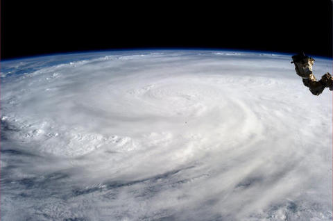 Typhoon Haiyan is pictured from the International Space Station on Nov. 9.