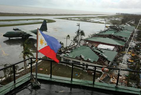 A view of devastated airport in Tacloban city, Leyte province, Philippines, on Nov. 9.