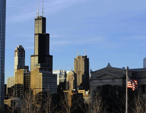 No.10 Once the tallest in the world when it was known as the Sears Tower, the re-named Willis Tower, at 1,451 feet, is now tenth.