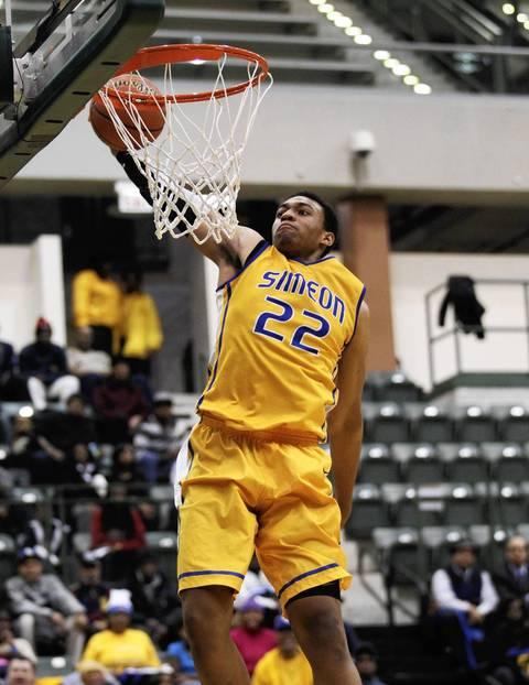 Simeon's Jabari Parker dunks against Morgan Park during ... Jabari Parker Simeon