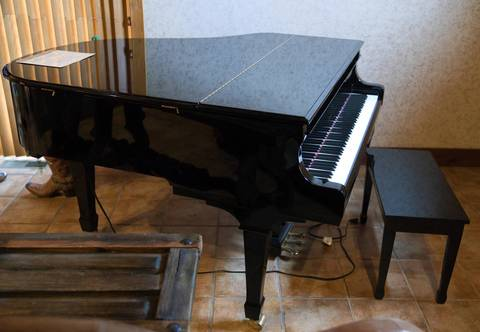 A baby grand piano at Rita Crundwell's home will be sold at auction.