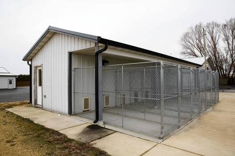 A heated and air-conditioned dog kennel is part of Rita Crundwell's personal home in Dixon.