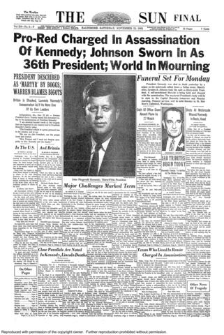 The final edition of The Sun published on Nov. 23, 1963.
