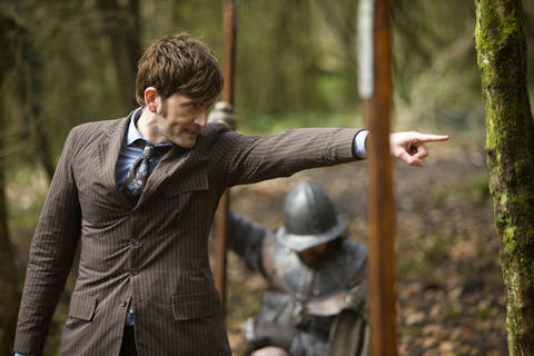 David Tennant puts on the pin stripes as the 10th Doctor.