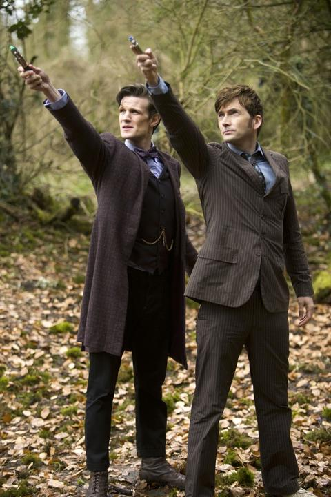 The 11th Doctor (Matt Smith) and the 10th Doctor (David Tennant)