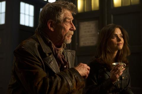The mystery Doctor (John Hurt) and Clara (Jenna Coleman)