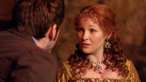"""Joanna Page plays Queen Elizabeth in """"The Day of the Doctor."""""""