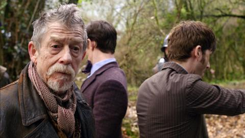 The mystery Doctor (John Hurt) and two Doctors we know.