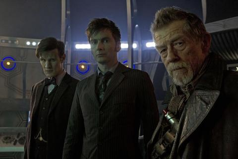 """Matt Smith, David Tennant and John Hurt in the 50th Anniversary Special, """"The Day of the Doctor."""""""