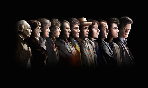 Doctor Who, the First Doctor (William Hartnell), the Second Doctor (Patrick Troughton), the Third Doctor (Jon Pertwee), the Fourth Doctor (Tom Baker), the Fifth Doctor (Peter Davison), the Sixth Doctor (Colin Baker), the Seventh Doctor (Sylvester McCoy), the Eighth Doctor (Paul McGann), the Ninth Doctor (Christopher Eccleston), the Tenth Doctor (David Tennant) and the Eleventh Doctor (Matt Smith)